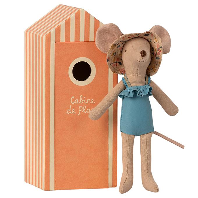 Maileg moeder muis in strandhuisje - Mum in Cabin de Plage