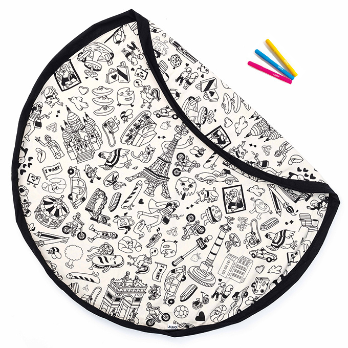 Play & Go Speelkleed / opbergzak OMY Color Your Bag