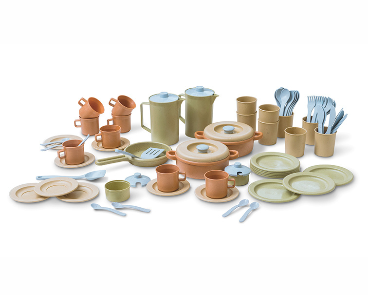 Dantoy Bioplastic Servies Set Groot, Dinner Set, 79-Delig