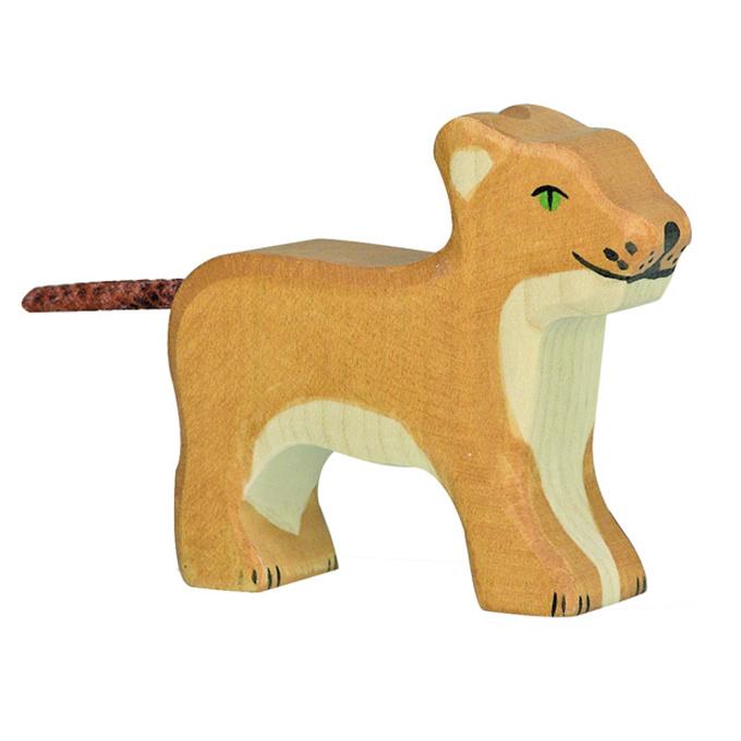 Holztiger Houten Leeuwtje staand