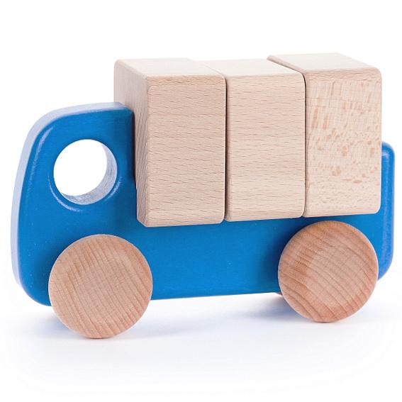 Bajo Houten vrachtwagen, blauw