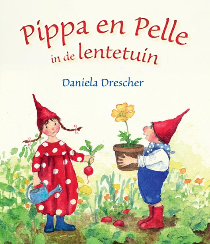 Pippa en Pelle in de lentetuin kartonboekje - Daniela Drescher - Christofoor