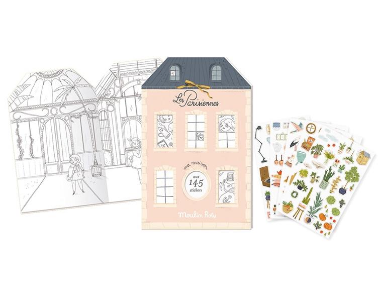 Moulin Roty Kleurboek / Stickerboek, Les Parisiennes