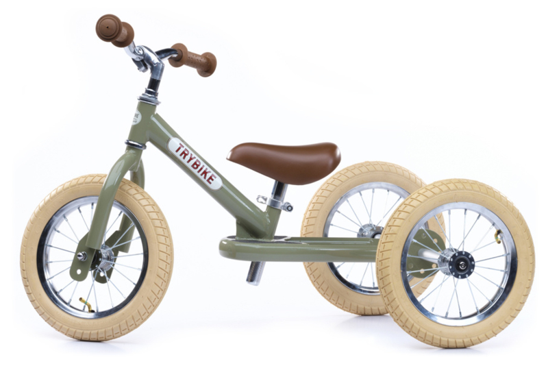 Trybike Steel 2-in-1 loopfiets vintage groen