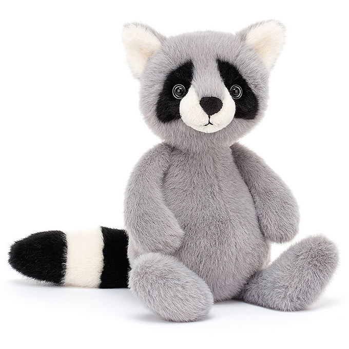 Jellycat Knuffel Wasbeer 26cm, Whispit Raccoon