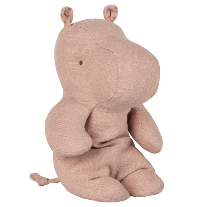 Maileg Knuffel Nijlpaard Safari Friends Hippo Small, Dusty Roze