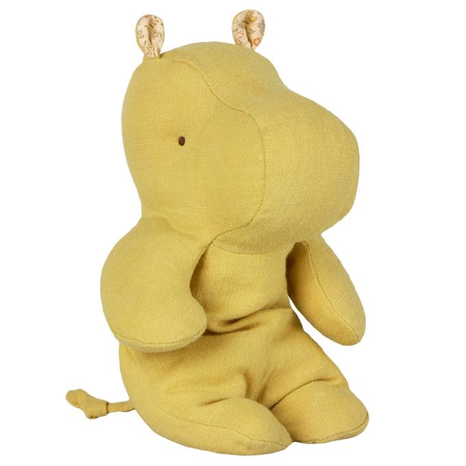 Maileg Knuffel Nijlpaard Safari Friends Hippo Small, Yellow