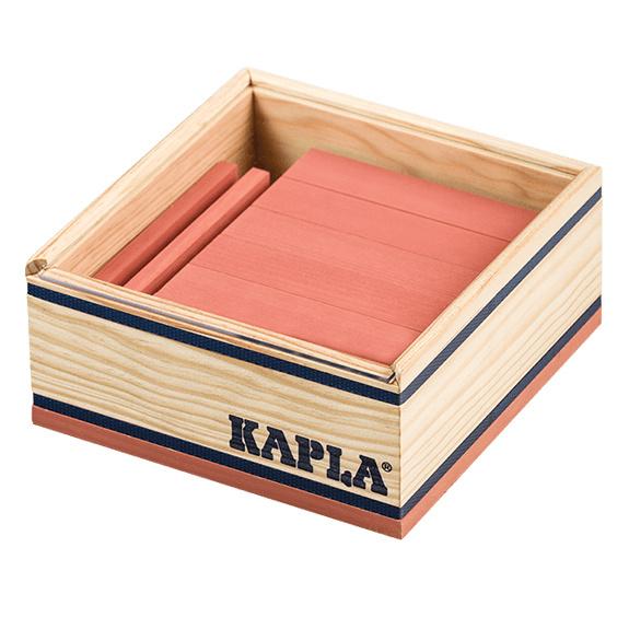Kapla 40 plankjes in kistje, roze