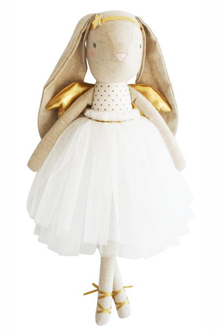 Alimrose Knuffel Konijn, Estelle Angel Bunny Gold , 50 cm