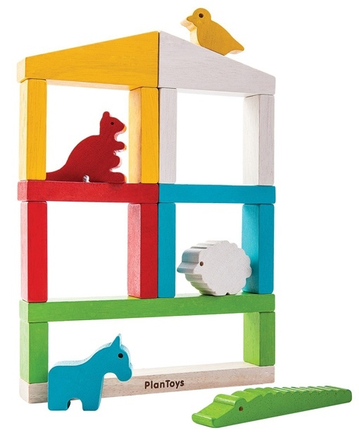 Plan Toys Speelset Dierentuin, Build a Zoo