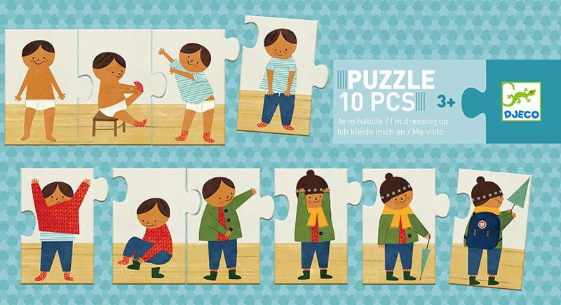 Djeco puzzel 'Aankleden', 72 cm