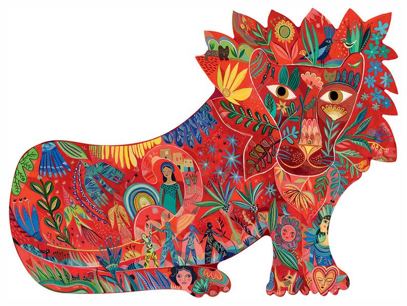 Djeco Puzzel 'Leeuw', 150 st, 62x46 cm