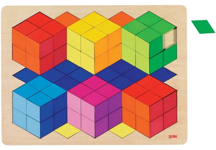Goki houten puzzel 3D OPTIK