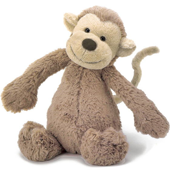 Jellycat Knuffel Aap 31cm, Bashful Monkey Medium