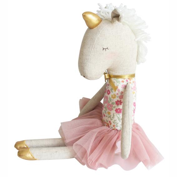 Alimrose Knuffel Eenhoorn, Yvette Unicorn, Rose Garden, 43 cm