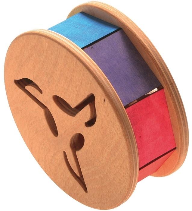 Grimm's houten rollend Klankwiel, Regenboogkleuren