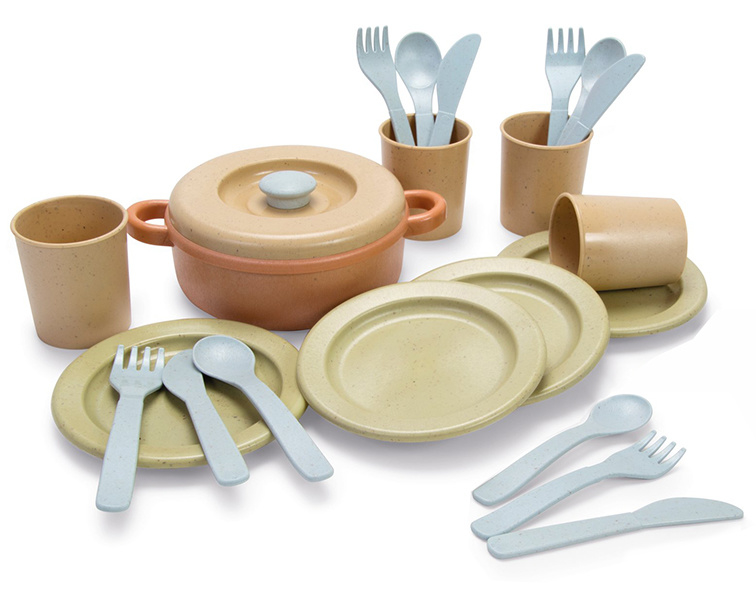 Dantoy Bioplastic Servies Set, Dinner Set, 22-Delig
