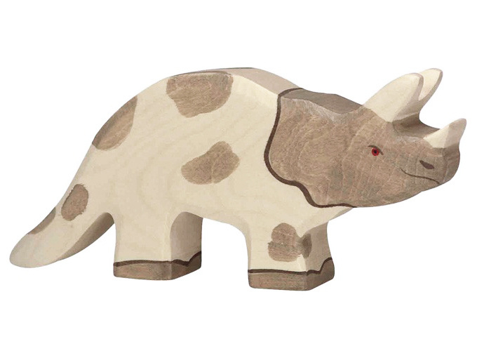 Holztiger Houten dino Triceratops