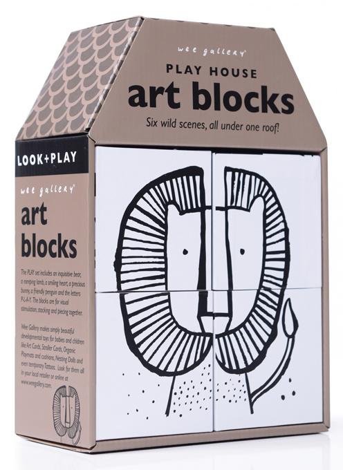 Wee Gallery Puzzel Blokken Wild Leeuw