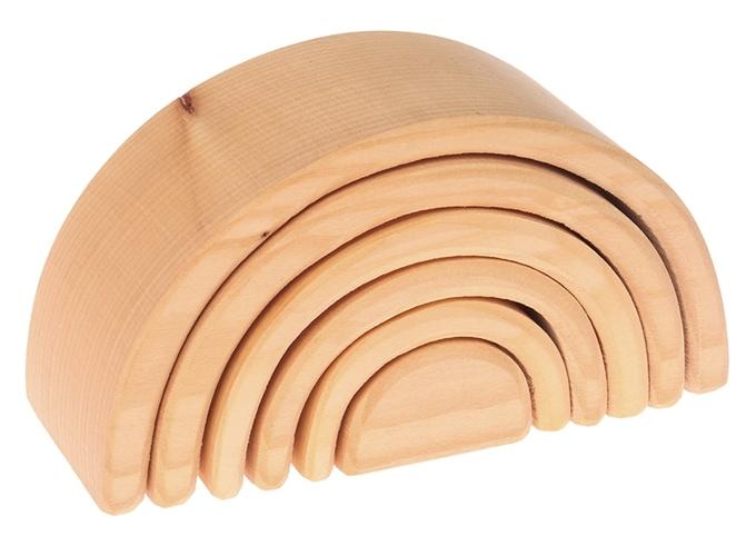 Grimm's houten Regenboog 6-delig, Naturel