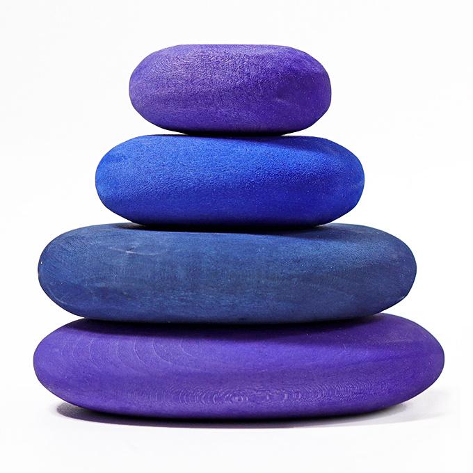 Grimm's bouwset 4 houten stenen, Dream Pebbles Paars