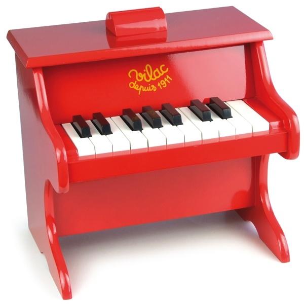 Vilac houten Piano, Rood