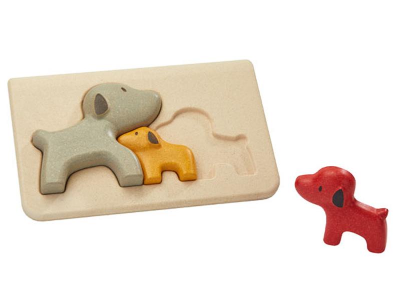 Plan Toys houten puzzel hondenfamilie