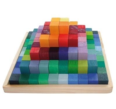 Grimm's Blokkenpiramide 100-delig, 22,5 x 22,5