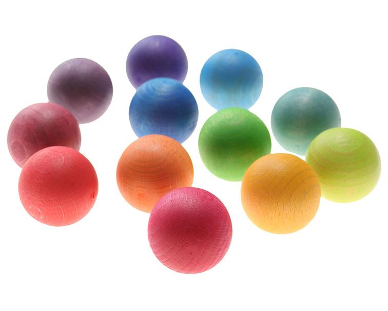 Grimm's 12 houten ballen klein