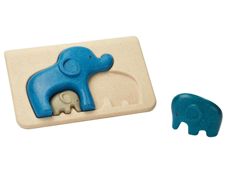 Plan Toys houten puzzel olifantenfamilie