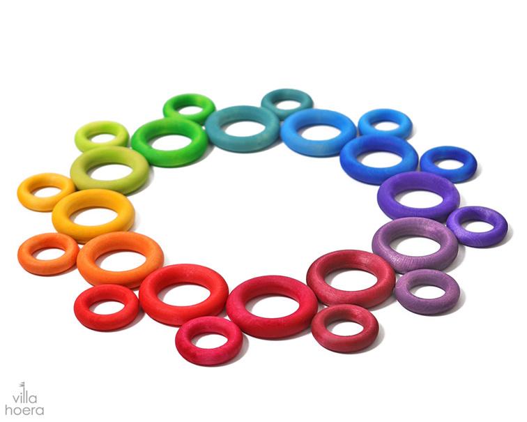 Grimm's Houten Ringen, 24-delig