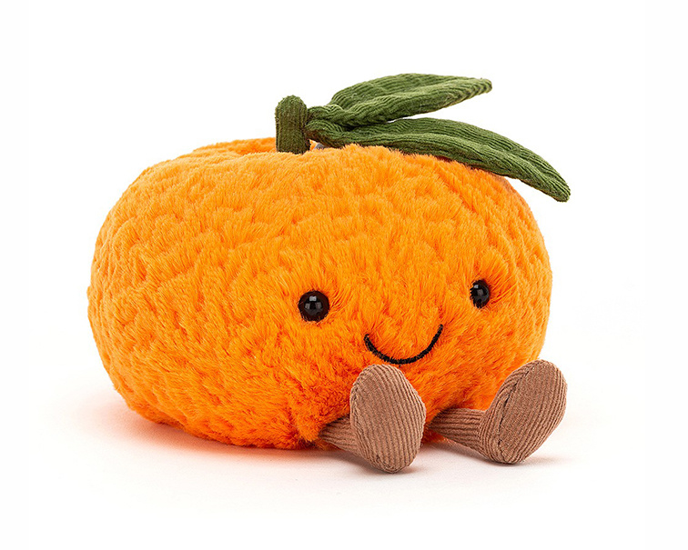 Jellycat Knuffel Mandarijn, Amuseable Clementine Small