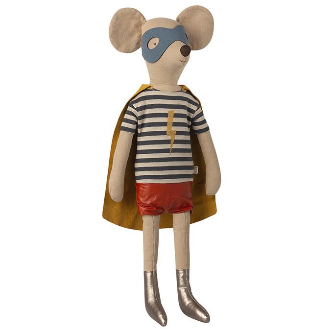 Maileg Superheld Muis Maxi Jongen, Super Hero Mouse Maxi Boy, 50cm