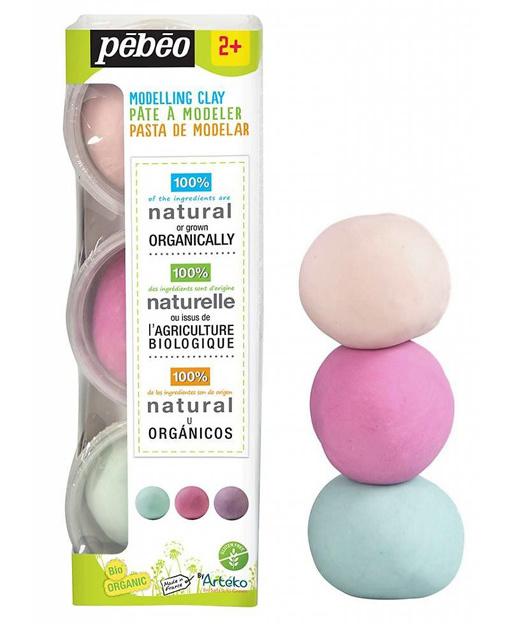Pébéo Arteko Modelleer Klei, Marshmallow - 3 kleuren x 100 gr.