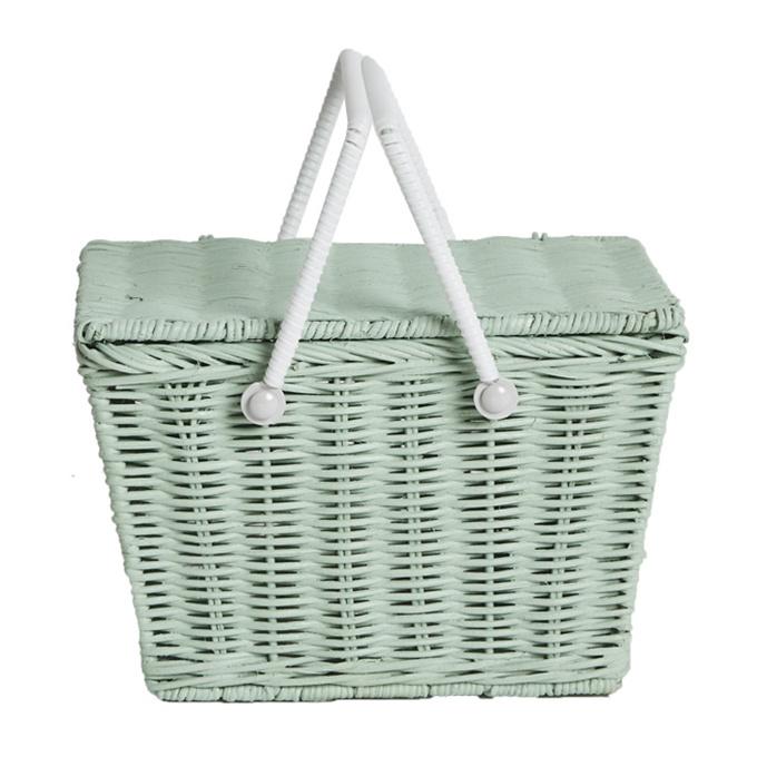 Olli Ella piki Basket picknickmandje Mint