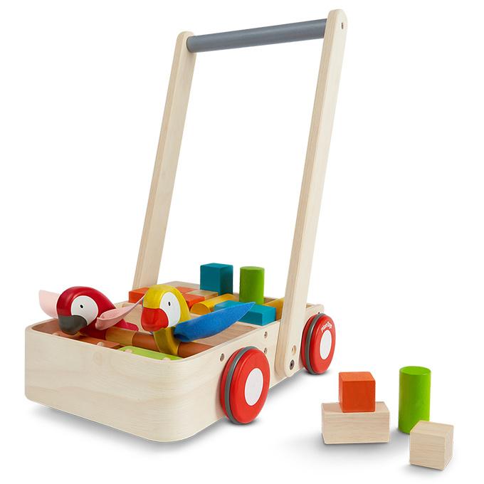 Plan Toys Loopwagen Blokkenkar 'Bird Walker'