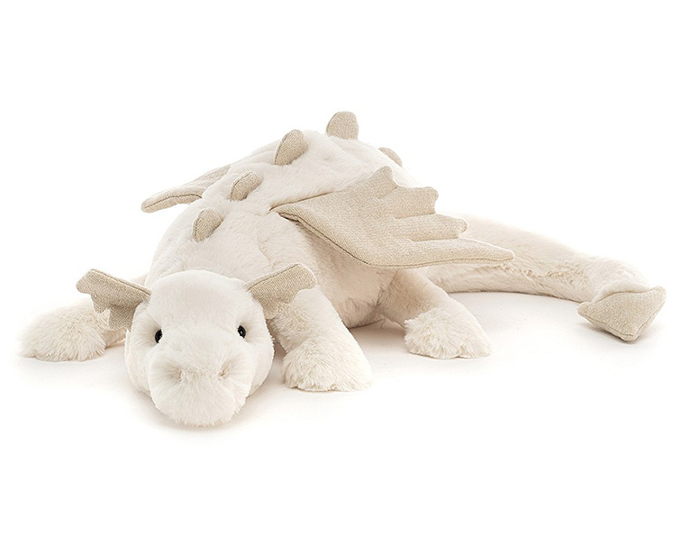 Jellycat Knuffel Draak, Snow Dragon 50 cm