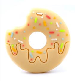 bijtsteen geel Donut met hapje bijtsteen kauw sieraden bijt ring bijt steen ketting voor moeder en kind kauwsieraden ADHD