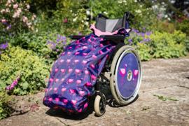 kids kinder Voetenzak rolstoeldeken rolstoel beenwarmer scootmobiel beenzak deken Wheelchair Cosy Flamingo kids