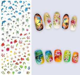 Nail art stickers oceaan dolfijn