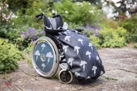 kids kinder Voetenzak rolstoeldeken rolstoel beenwarmer schootmobiel beenzak deken kinderbeenzak Wheelchair Cosy Silver LIghtning
