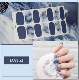 Nail art sticker nagelstickers blauw marmer