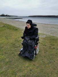 adult volwassen  Voetenzak rolstoel beenwarmer scootmobiel beenzak Wheelchair Cosy zwart adult volwassen