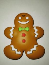 bijtsteen het koekenmannetje gingerbread man bijtsteen kauw sieraden bijt ring bijt steen ketting voor moeder en kind kauwsieraden ADHD