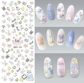Nail art poes kitten kat nagel sticker