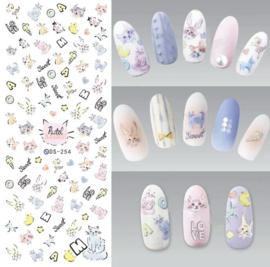 Nail art Stickers Fantasy Bloemen klaproosjes +-70 stuks