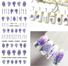 Lavendel nail art nagel sticker