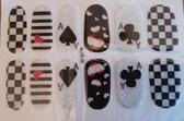 Bibbi4you nail art nagel stickers klaverjassen glitter