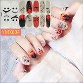 Halloween spin nagel stickers nail art Creepy