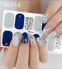 Nail art nagel stickers nagel stickers Navy Blue 0154